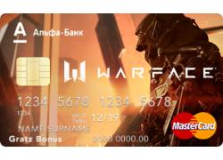 Кредитная карта варфейс Warface
