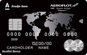 Кредитная карта Aeroflot World Black Edition