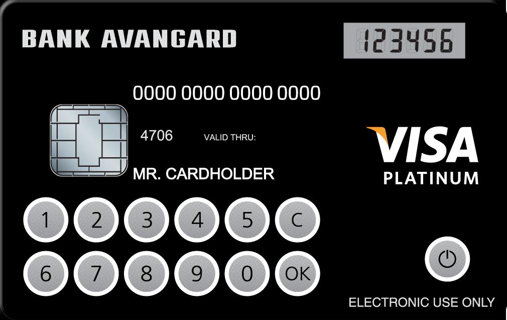 Кредитная карта с дисплеем