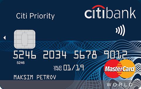 Дебетовая карта Citi Priority