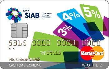 Кредитная карта «Cash Back Online Все включено»