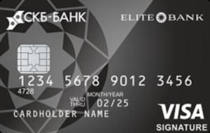 Дебетовая карта «Премиальная Visa Signature»